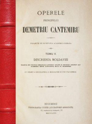 Operele principelui Demetriu Cantemiru (1875) - Dimitrie Cantemir||Operele principelui Demetriu Cantemiru||Operele principelui Demetriu Cantemiru