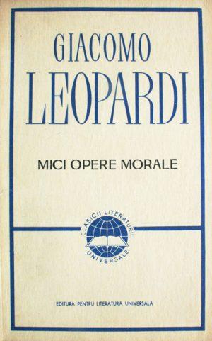 Mici opere morale - Giacomo Leopardi