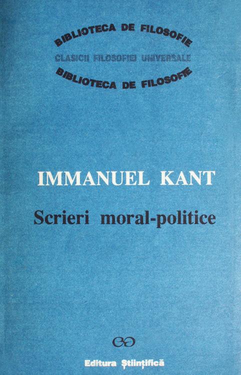 Scrieri moral politice - Immanuel Kant
