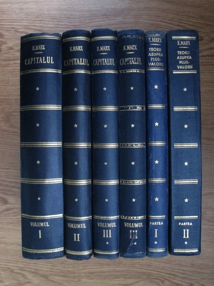Karl Marx - Capitalul (6 volume, set complet)