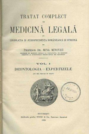 Mina Minovici - Tratat complect de medicina legala