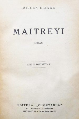 Maitreyi (editia princeps
