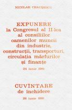Expunere la Congresul al II-lea al consiliilor... - Nicolae Ceausescu
