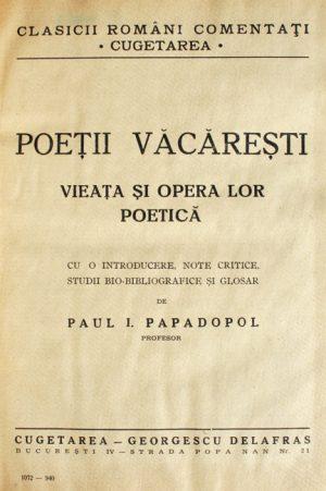 Poetii Vacaresti (1940) -