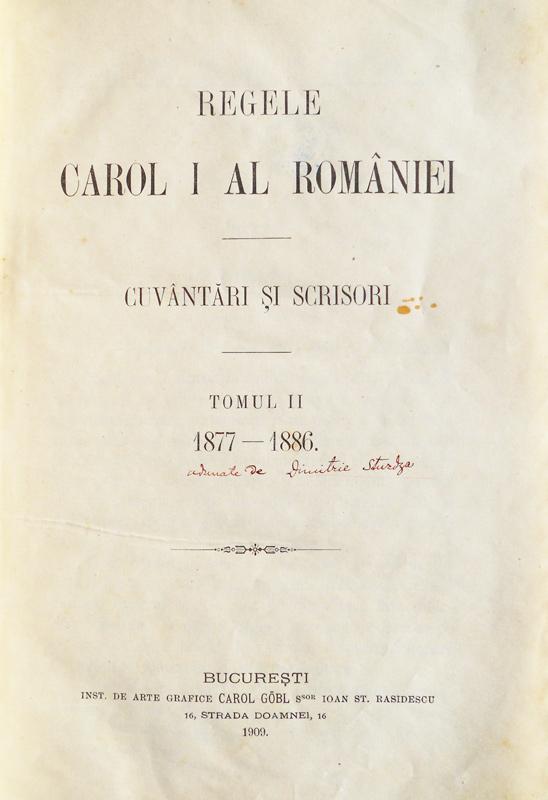 Regele Carol I al Romaniei - Cuvântări și scrisori (1877-1886)||Limba latina. Manual pentru clasa a VIII-a - Ministerul Invatamantului