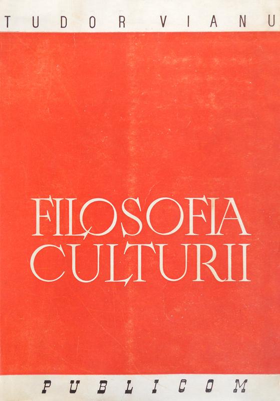 Filosofia culturii (editia princeps