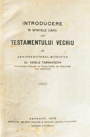 Introducere in sfintele carti ale Testamentului Vechiu (editia princeps